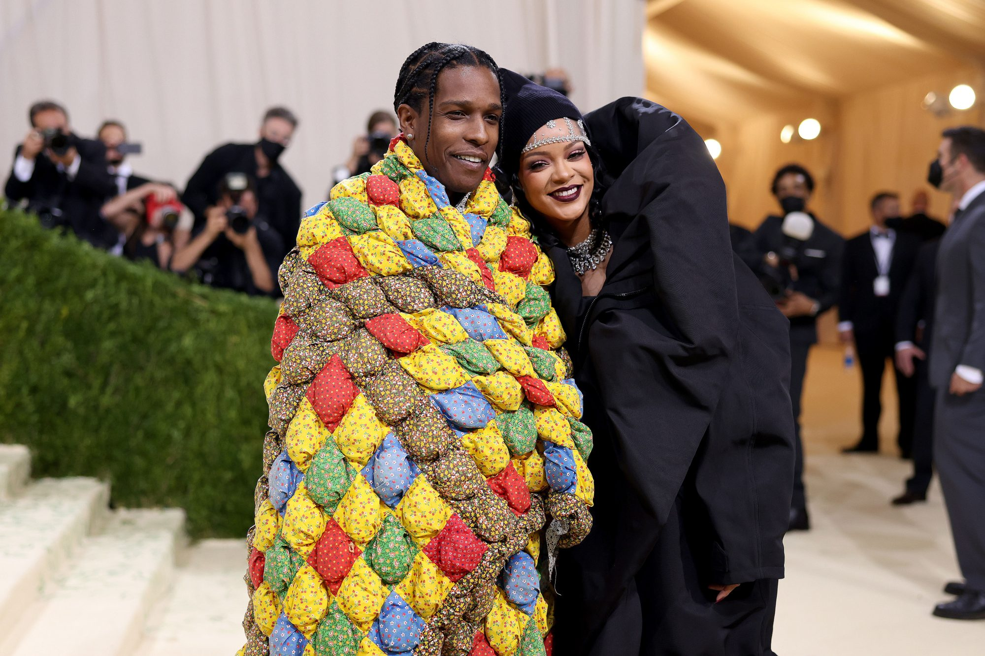 Rihanna & A$AP Rocky Celebrate Their Red Carpet Debut As A Couple At The Met Gala in New York